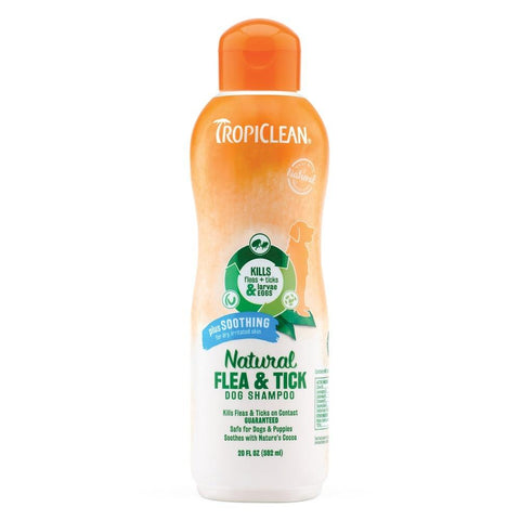 Tropiclean Natural Flea and Tick Shampoo Plus Soothing