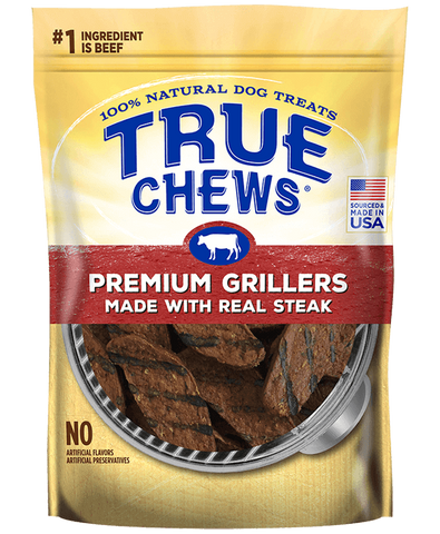 True Chews Premium Grillers with Real Steak Dog Treats