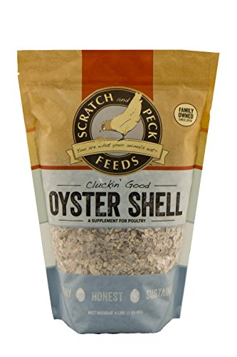 Cluckin' Good Oyster Shell Supplement for Chickens and Ducks - Flaked - 4-lbs