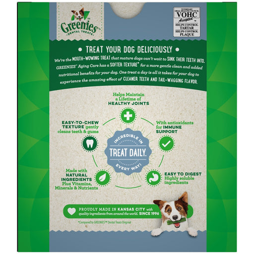 Greenies Aging Care Regular Size Dental Care Dog Treats
