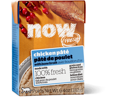 Petcurean NOW! Fresh Grain Free Chicken Pate with Bone Broth Wet Cat Food