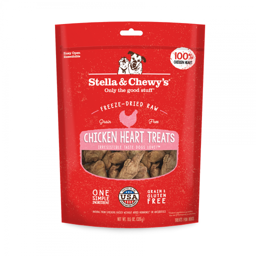 Stella & Chewy's Freeze Dried Raw Chicken Hearts Dog Treats