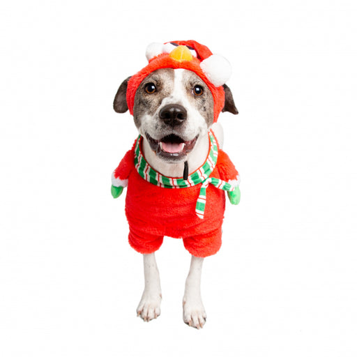 Pet Krewe Sesame Street Santa Elmo Pet Costume