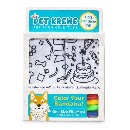 Pet Krewe Birthday Celebration DIY Pet Bandana Kit