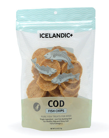 Icelandic+ Cod Fish Chips Dog Treats