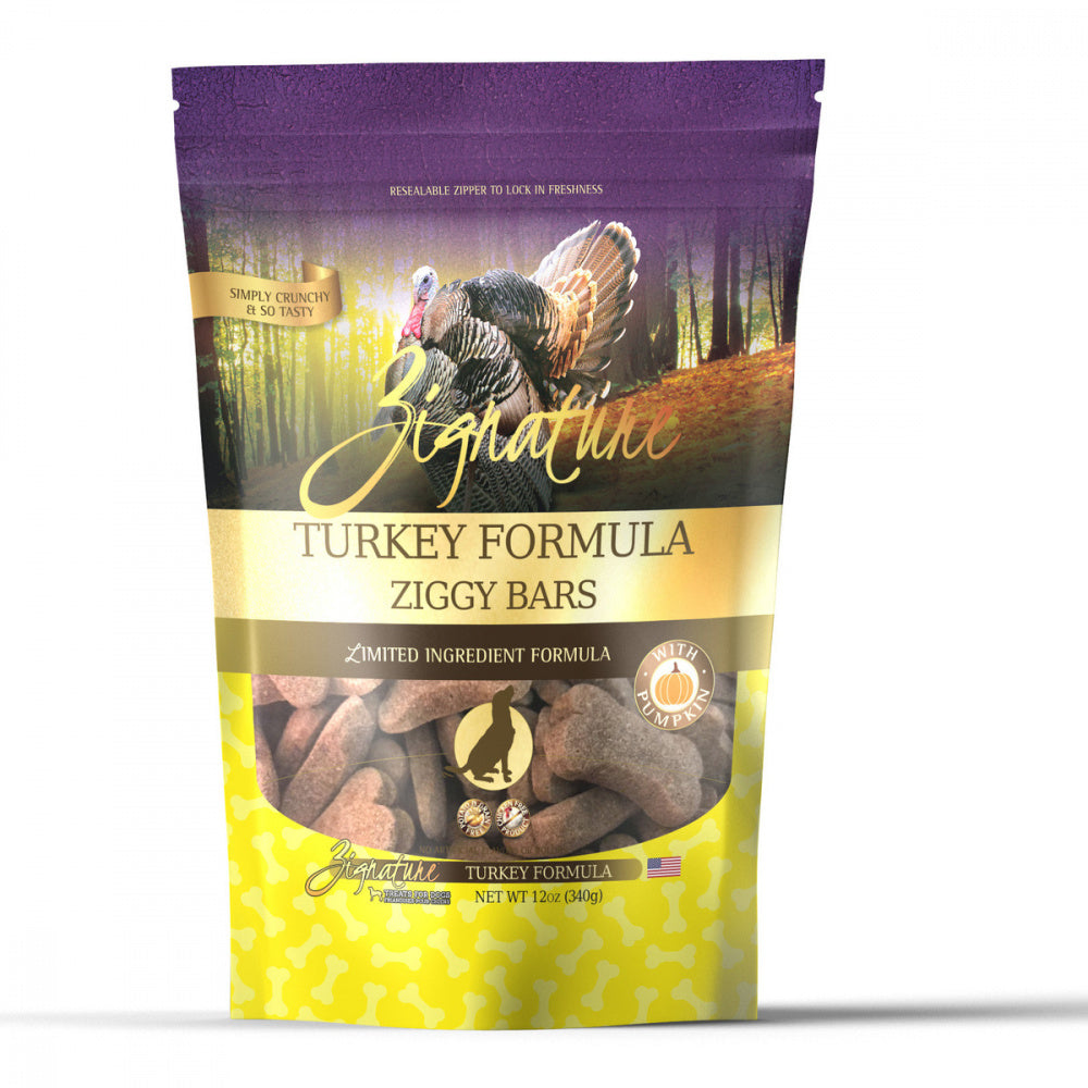Zignature Zssential Ziggy Bars Turkey Formula Dog Treats