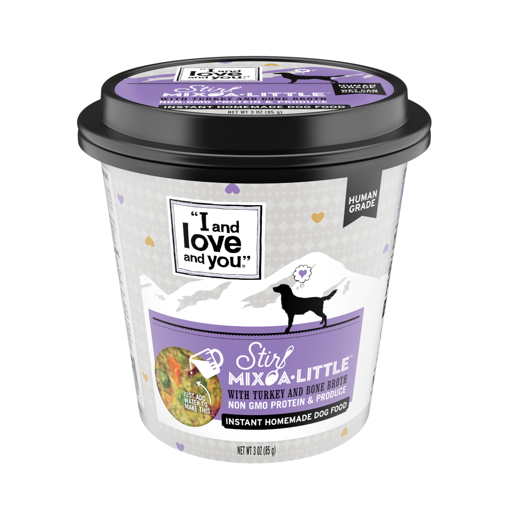 I and Love and You Stir-Mix-A-Little Turkey & Bone Broth Instant Home Made Dog Food