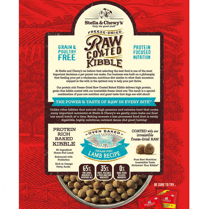 Stella & Chewy's Raw Coated Kibble Grass Fed Lamb Recipe Dry Dog Food