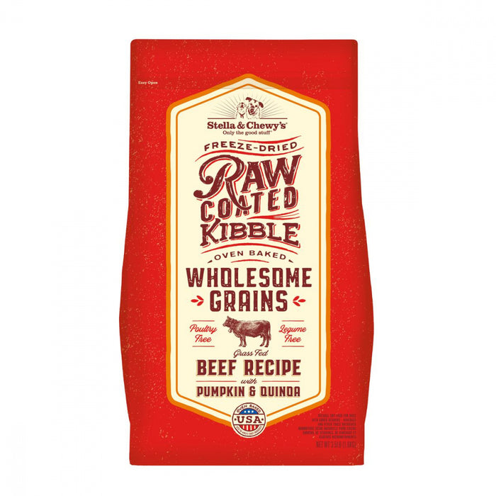 Stella & Chewy's Raw Coated Kibble With Wholesome Grains Grass Fed Beef Recipe Dry Dog Food