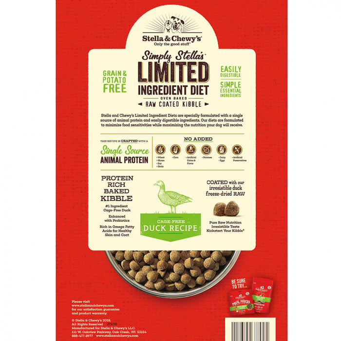 Stella & Chewy's Simply Stella's Limited Ingredient Diet Cage Free Duck Recipe Dry Dog Food