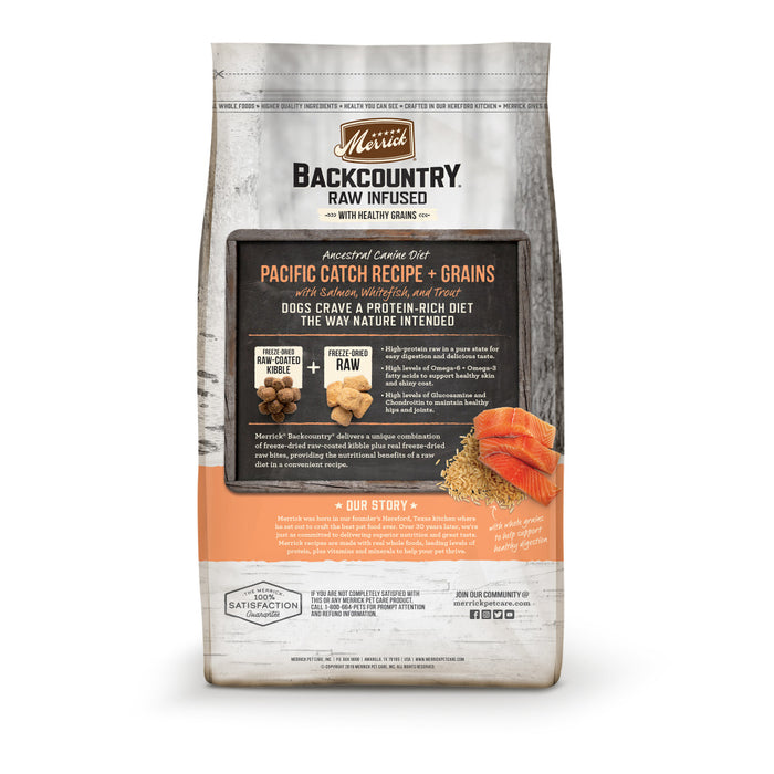 Merrick Backcountry Raw Infused with Healthy Grains Pacific Catch Recipe Dry Dog Food