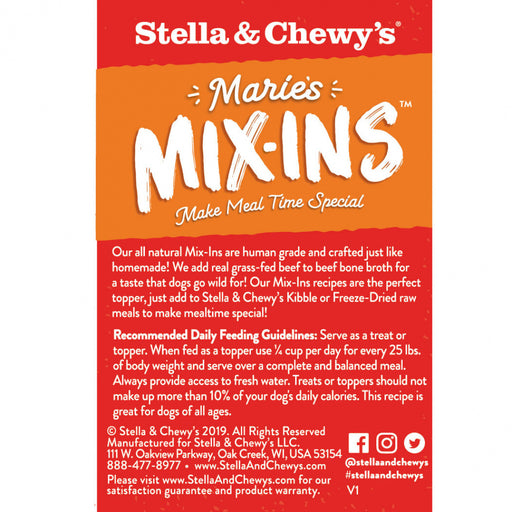 Stella & Chewy's Marie's Mix-Ins Grass Fed Beef & Pumpkin Recipe Dog Food Topper