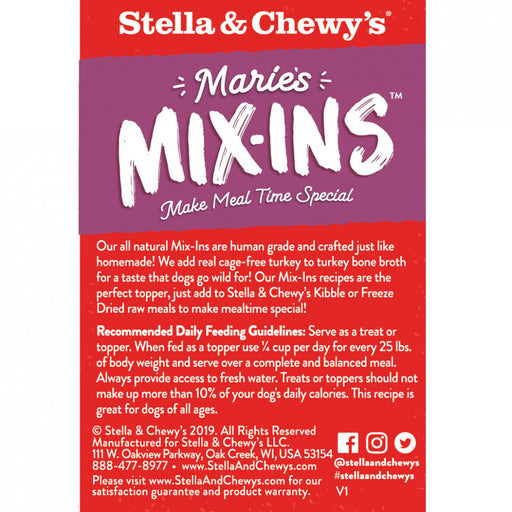 Stella & Chewy's Marie's Mix-Ins Cage Free Turkey & Pumpkin Recipe Dog Food Topper