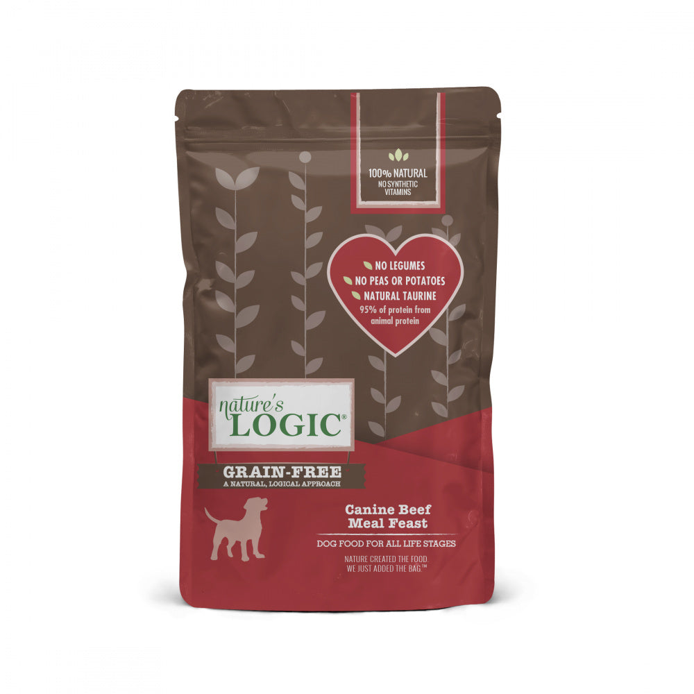 Nature's Logic Grain Free Canine Beef Meal Feast Dry Dog Food