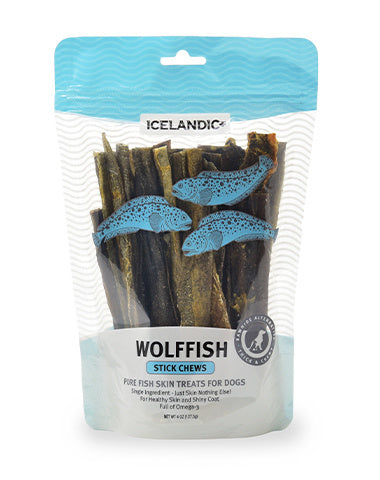 Icelandic+ Wolffish Skin Chew Stick Dog Treat