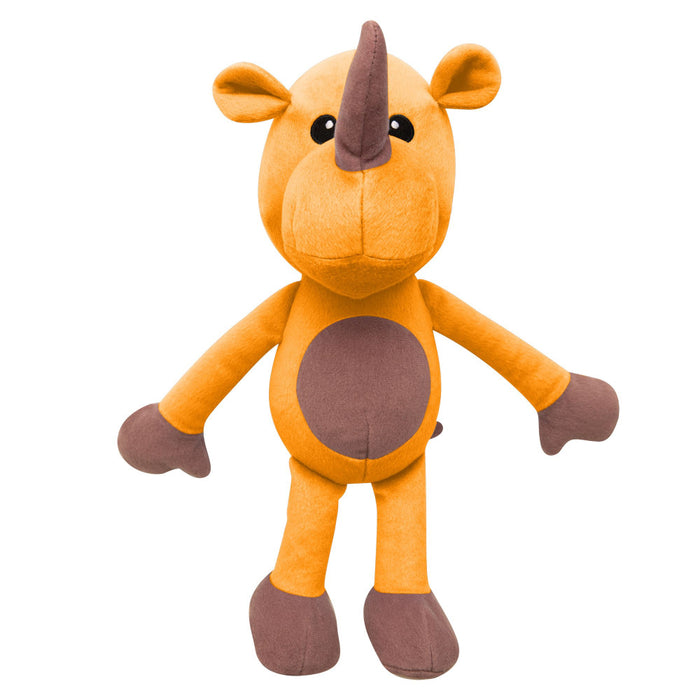 Snugarooz Robbie the Rhino Plush Dog Toy