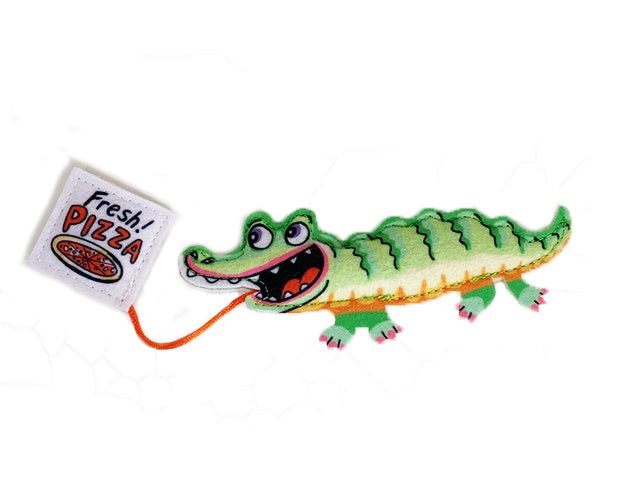 Fuzzu Fast Food Gator and Pizza Cat Toy