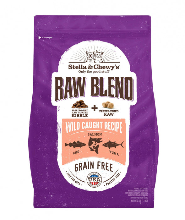 Stella & Chewy's Raw Blend Kibble Wild Caught Recipe Dry Cat Food