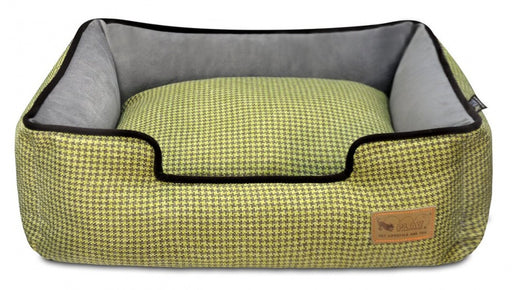 P.L.A.Y. Lounge Bed Houndstooth, Yellow & Brown