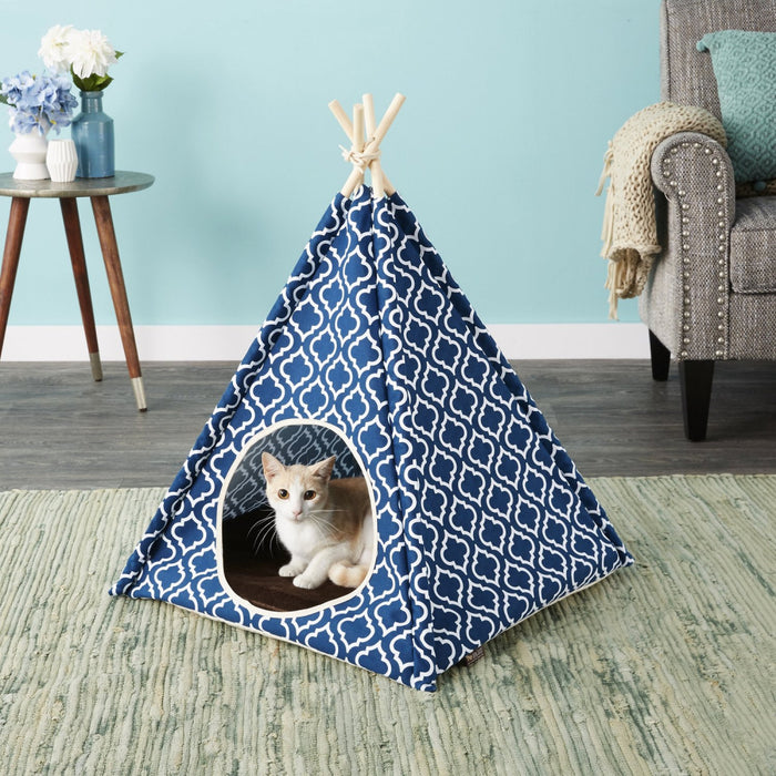 P.L.A.Y. Teepee Tent for Cat or Dog, Moroccan Navy