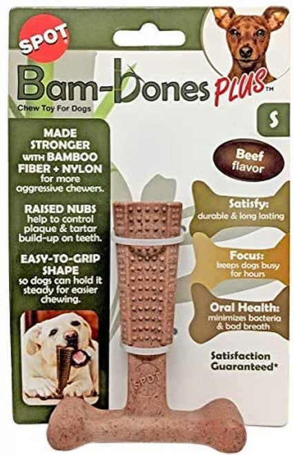 Ethical Pet Bambone Plus Dog Toy, Beef Flavor