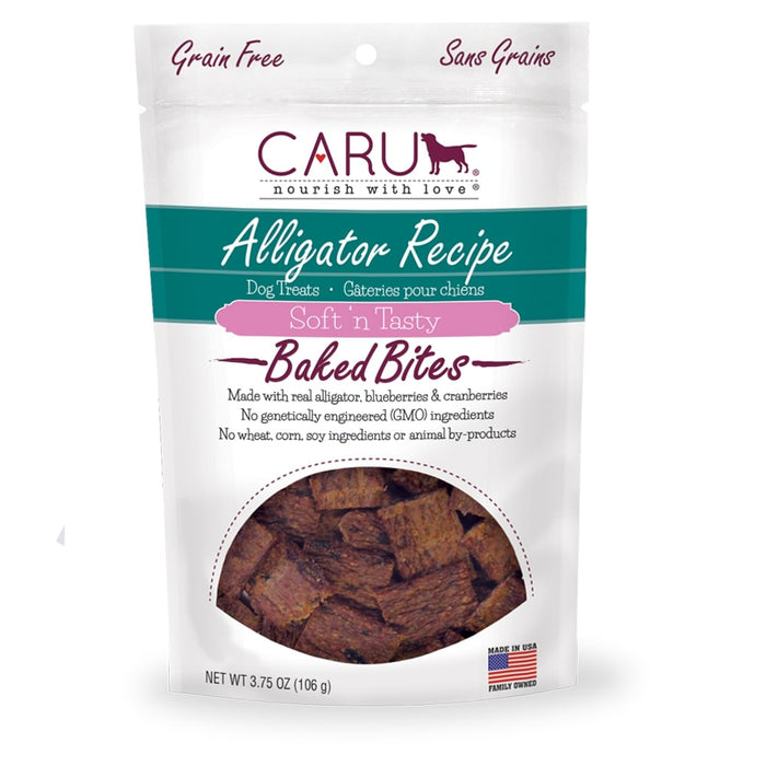 Caru Soft 'n Tasty Alligator Recipe Bites For Dogs
