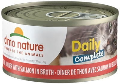 Almo Nature Daily Complete Cat Tuna with Salmon in Broth Canned Cat Food