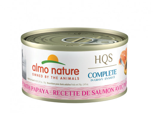 Almo Nature HQS Complete Cat Grain Free Salmon with Papaya Canned Cat Food
