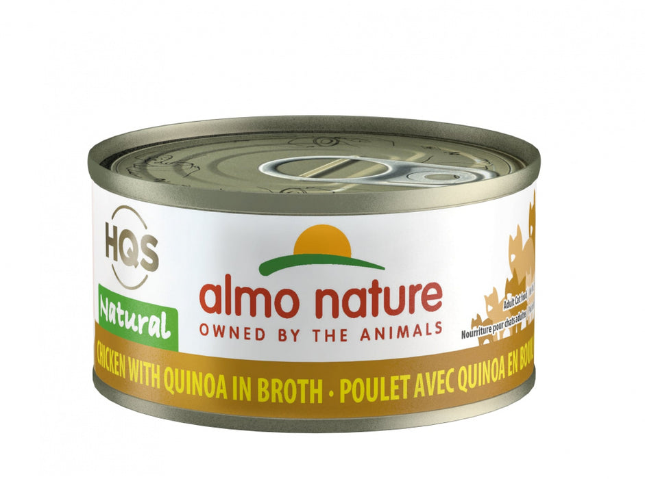 Almo Nature HQS Natural Cat Grain Free Additive Free Chicken with Quinoa Canned Cat Food