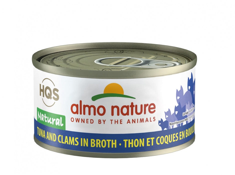 Almo Nature HQS Natural Cat Grain Free Additive Free Tuna with Clams Canned Cat Food
