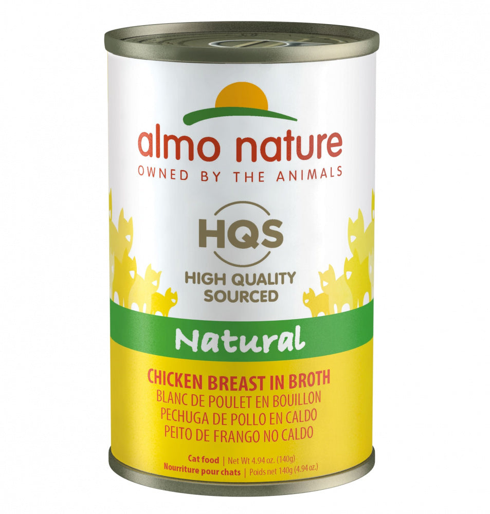 Almo Nature HQS Natural Cat Grain Free Additive Free Chicken Breast Canned Cat Food
