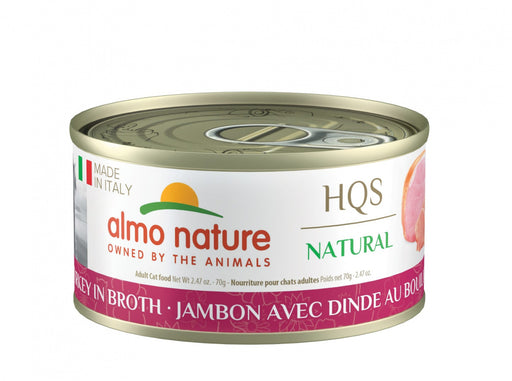 Almo Nature HQS Natural Cat Grain Free Ham with Turkey Canned Cat Food