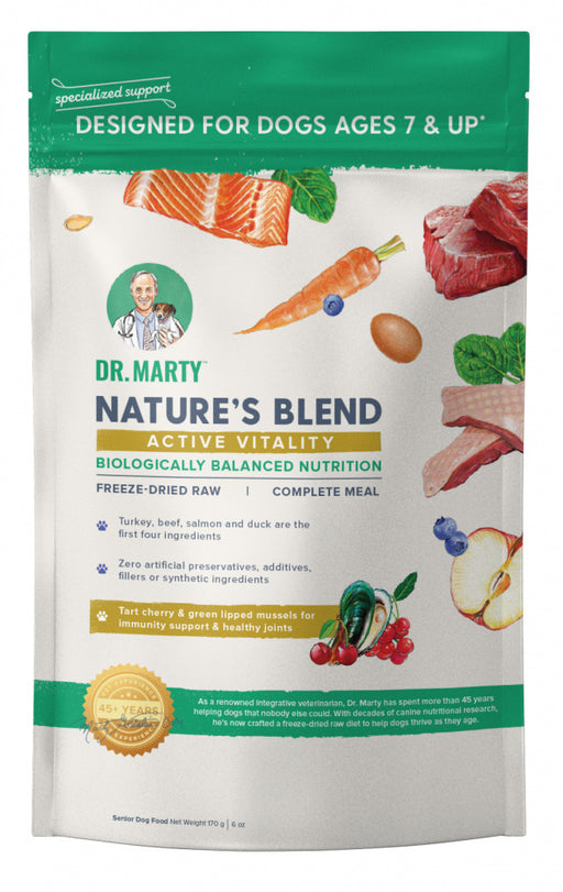 Dr. Marty Nature's Blend for Active Vitality Seniors Freeze Dried Raw Dog Food