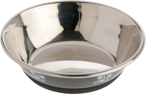 OurPet's DuraPet Fashion Bowl, Gun Metal