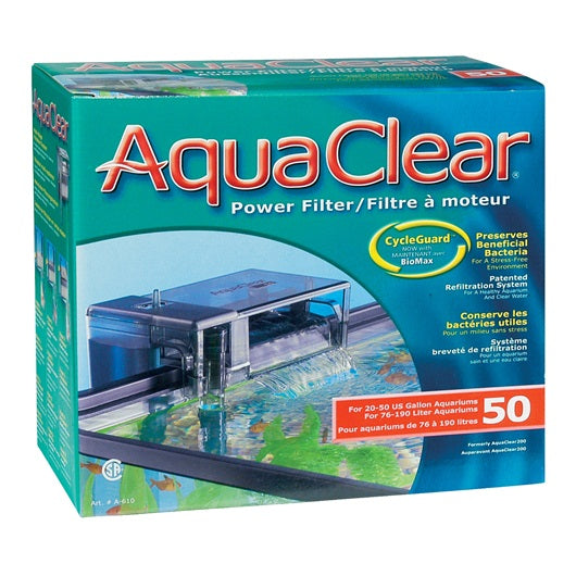 AquaClear 50 Power Filter, A610, 50 gal