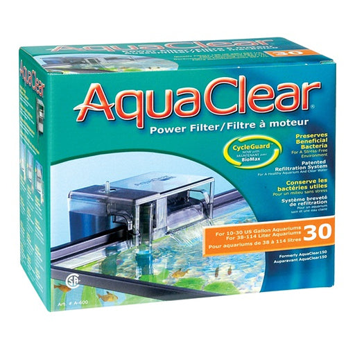 AquaClear 30 Power Filter, A600, 30 gal