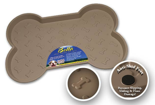 Bella Spill-Proof Dog Mat - Black or Tan
