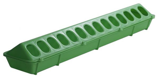 "20"" Plastic Flip-Top Poultry Ground Feeder, Lime Green"