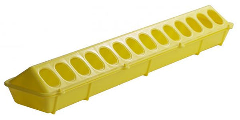 "20"" Plastic Flip-Top Poultry Ground Feeder, Yellow"