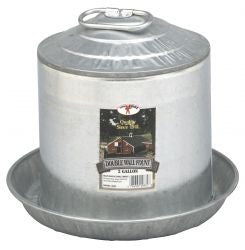 Double Wall Metal Poultry Waterer, Assorted up to 8 Gal.