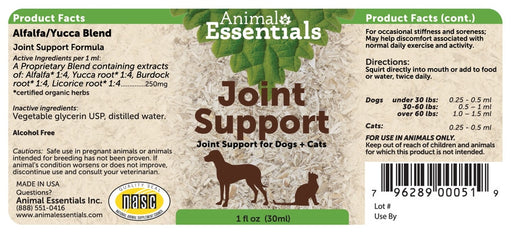 Animal Essentials® Joint Support for Cat & Dog 1 Oz