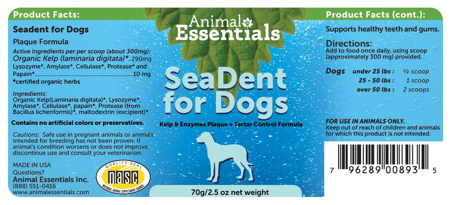 Animal Essentials® SeaDent for Dogs 70 Gm