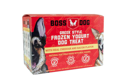 Greek Style Frozen Yogurt Dog Treat, 4 pack, Bacon & Cheddar