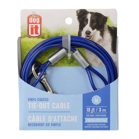 Medium-10 ft & 15 ft, Blue Tie Out Cables