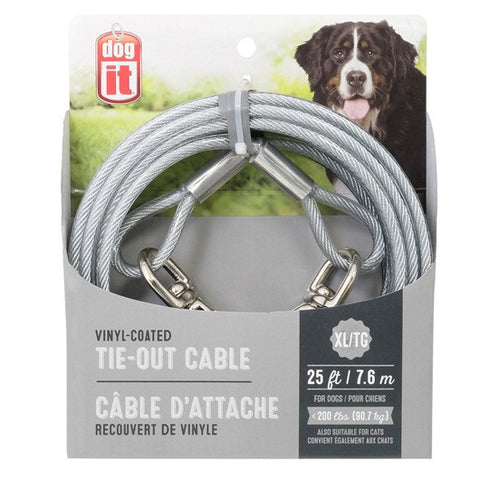 X LARGE-25 ft, Clear Tie Out Cable