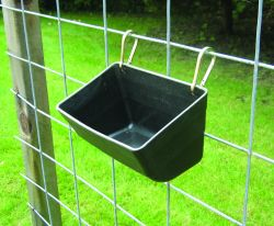 "11"" Fence Feeder with Clips, Red or Black"