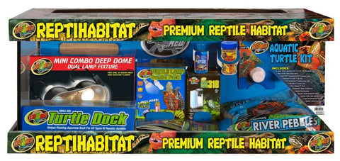 ReptiHabitat Aquatic Turtle Starter Kit, 20 gal, 30x12x12