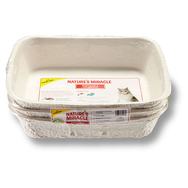 Disposable Cat Litter Box, 3 pack