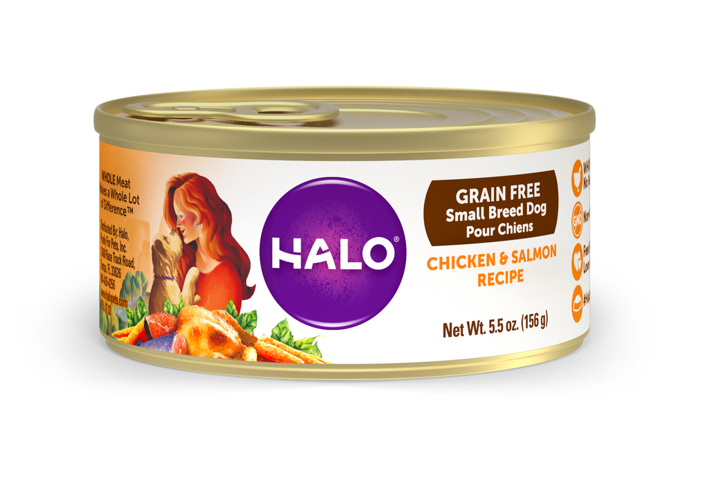 Halo Small Breed Grain Free Chicken and Salmon Canned Dog Food
