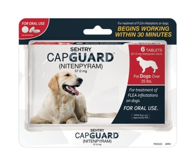 Sentry Capguard Flea Tablets, For Dogs 25+ lbs